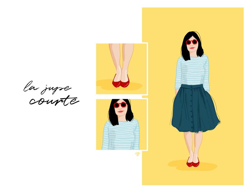 Illustration la jupe courte by 13octobre